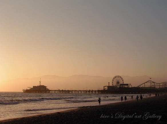 Evening in Santa Monica_ Santa Monica Pier