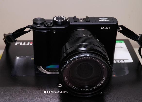 Fuji X-A1... My first APS-C format camera.